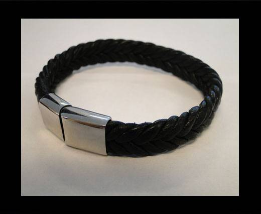 Unisex Leather Bracelet MLBSS-11