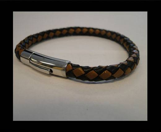 Unisex Leather Bracelet MLBSS-15