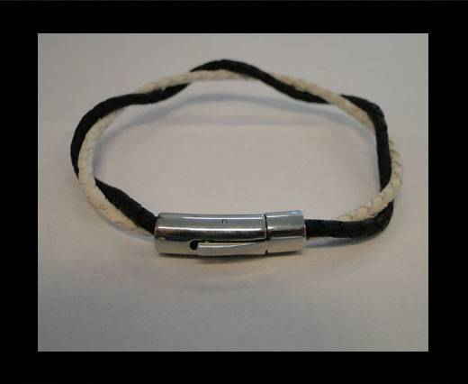 Unisex Leather Bracelet MLBSS-18