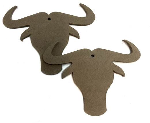 KC-Key Cord Buffalo Heads 7cm - Taupe