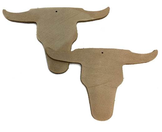 KC-Key Cord Buffalo Heads 8cm - Beige