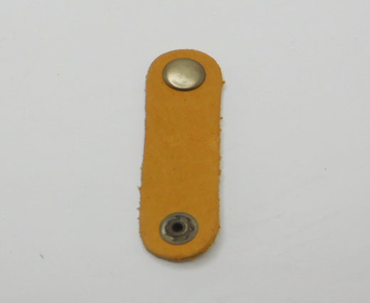 LEATHER BUTTON CLIP - YELLOW