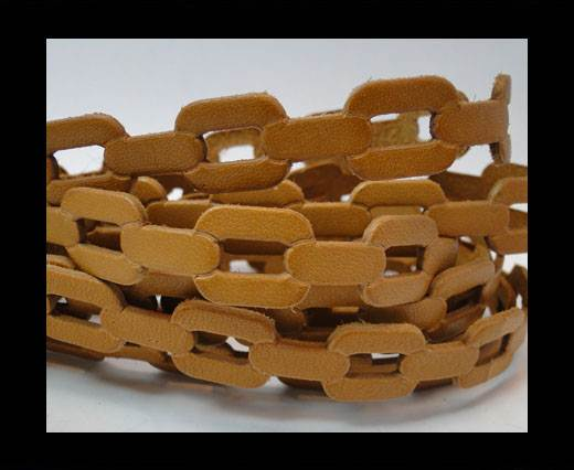 Buy Leather-ChainStyle3 -light brown 20mm at wholesale prices