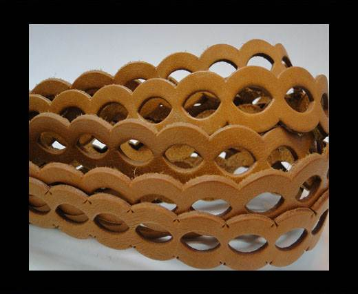 Buy Leather-ChainStyle2 -light brown 20mm at wholesale prices