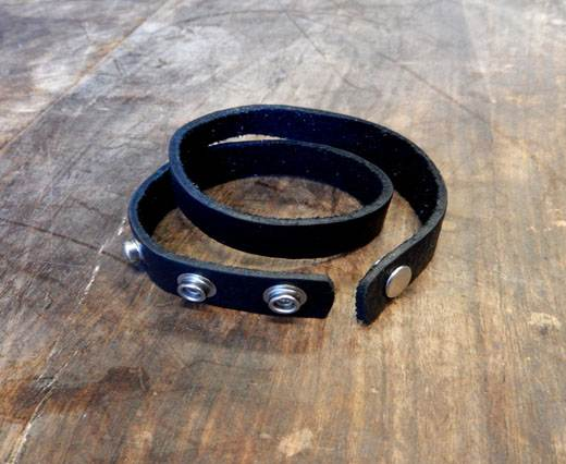 Buy LEATHER CUFF - STYLE 5 - BLACK at wholesale prices