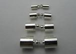 brass end cap FI7013 - Silver - 4mm