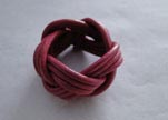 Leather-Ring-Dark Pink
