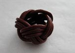 Leather-Ring-Dark Red