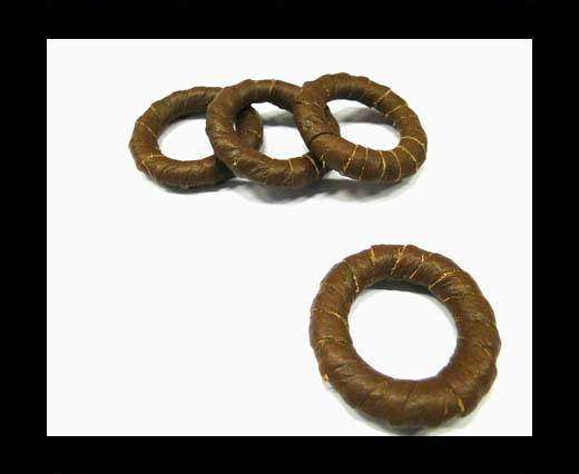 Leather Rings-Brown-34mm