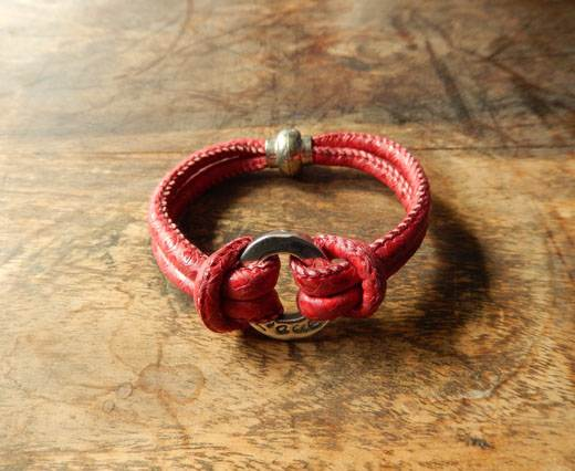 Buy LeatherBracelet02 - Red at wholesale prices