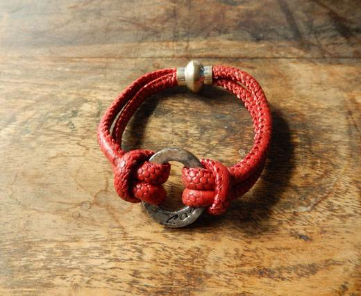 Buy LeatherBracelet03 - Red at wholesale prices