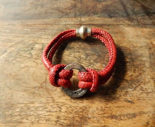 LeatherBracelet03 - Red