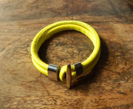 Buy LeatherBracelet04 - Yellow at wholesale prices
