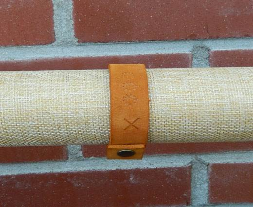 Buy LeatherBracelet07 - Orange at wholesale prices