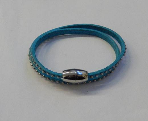 Buy LeatherStudsBracelet01 - Turquoise at wholesale prices