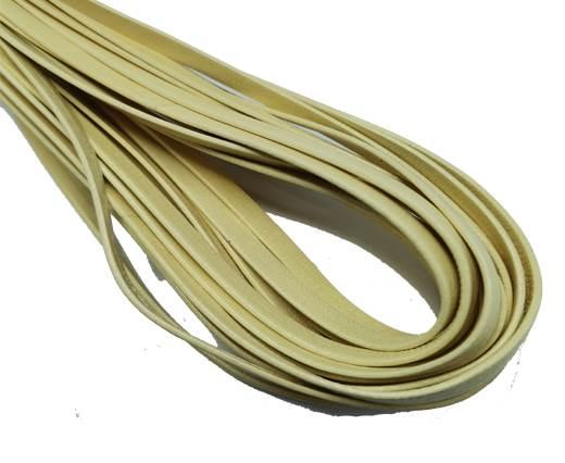 Flat Nappa Leather cords - 5mm - lemon