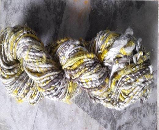 Rough-Silk-Lemon White Banana Yarns