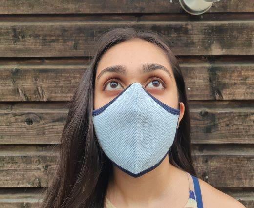 6 ply cotton washable masks - Light Blue