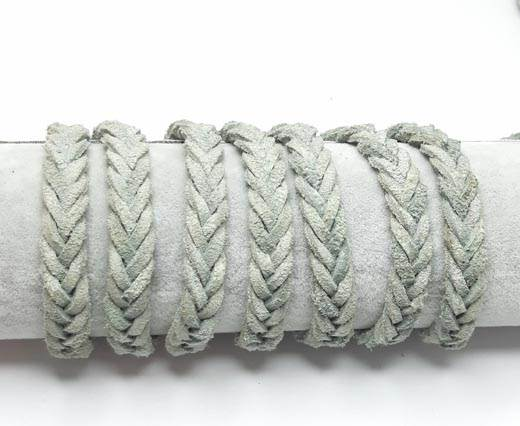 Thick Flat Suede Braided -10mm-Light blue
