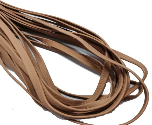 Flat Nappa Leather cords - 5mm - light old rose
