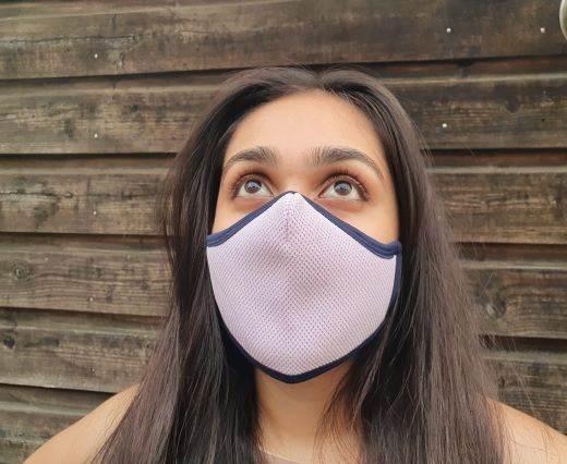 6 ply cotton washable masks - Light Pink