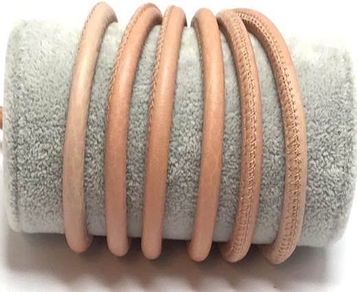 Round stitched nappa leather cord-6mm-Light pink