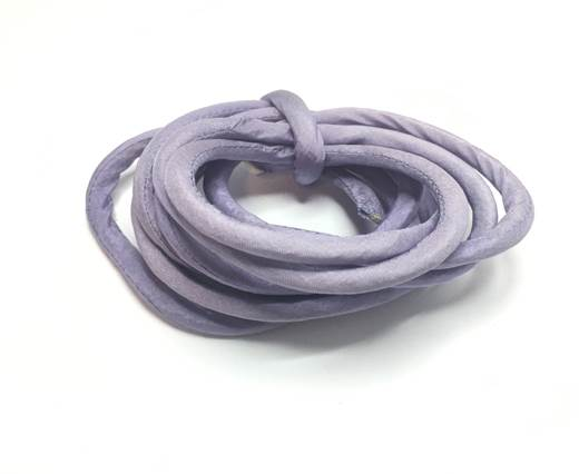 Real silk cords with inserts - 8 mm - Lila