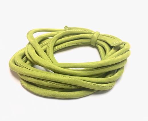 Real silk cords with inserts - 4 mm - Lime