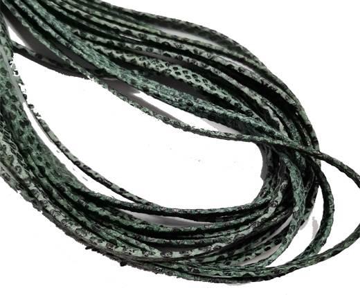 Flat Nappa Leather cords - 5mm - Lizard green
