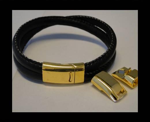 Zamak magnetic clasp ZAML-67-Gold-10*5mm