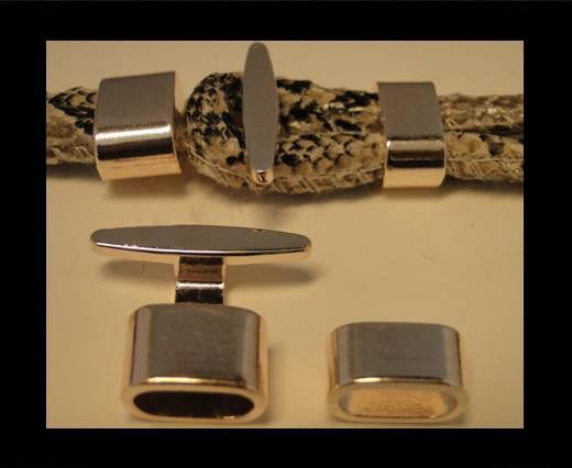Zamak magnetic clasp ZAML-12-Rose Gold