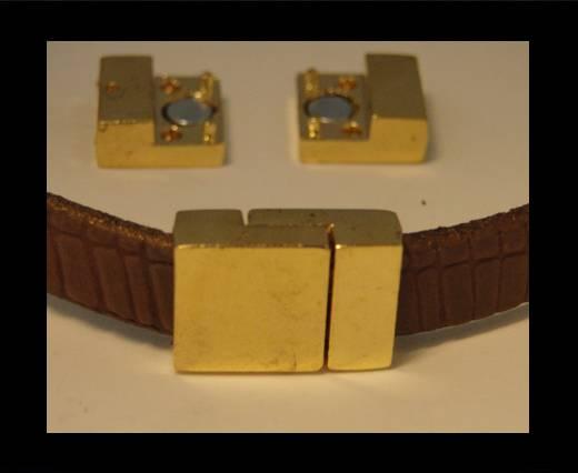 Zamak magnetic clasp ZAML-07-10*3mm-Gold