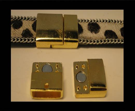 Buy Zamak magnetic clasp ZAML-08-Gold at wholesale prices