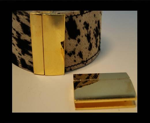 Zamac magnetic clasp ZAML-70-40*3mm-Gold
