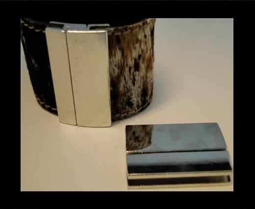Zamac magnetic clasp ZAML-70-40*3mm-Steel