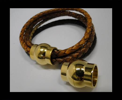 Locks for leather/Cords -MGST-19-12mm-Gold
