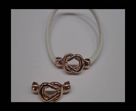 Zamak Toggle Clasp ZAML-09-4mm-Rose Gold