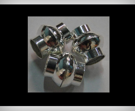 Buy Zamak magnetic claps MGL4-8mm-Silver at wholesale prices