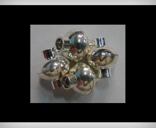 Zamak magnetic claps MGL4-4mm-silver