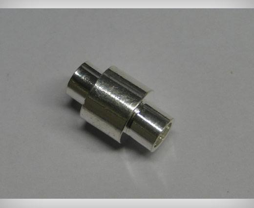 Zamak magnetic claps MGL2-5mm-Silver