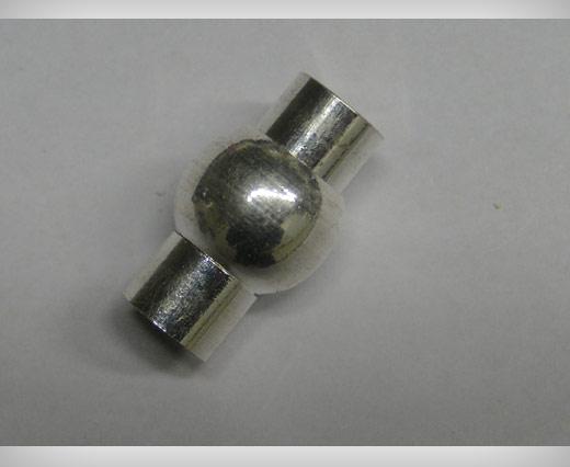 Zamak magnetic claps MGL1-5mm-Silver