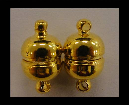brass Magnetic clasp MG6-10mm-Gold