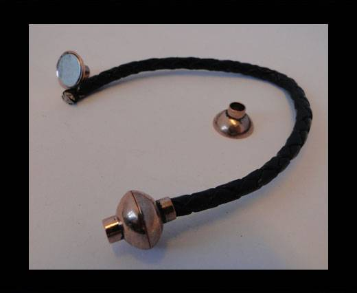 Zamak magnetic claps MGL-4-4MM-Antique-Rose-Gold