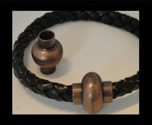 Zamak magnetic claps MGL-4-6mm-Antique Copper