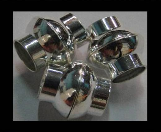 Buy Zamak magnetic claps MGL-4-6mm-Silver at wholesale prices