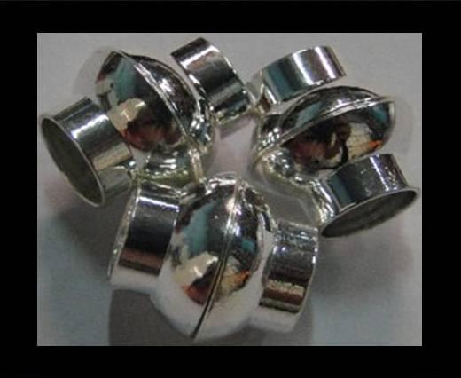 Zamak magnetic claps MGL-4-6mm-Silver
