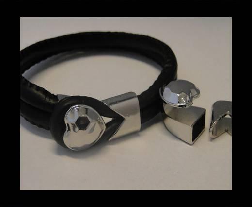 Zamak Half Bracelet Clasps MGL-58-10*5mm