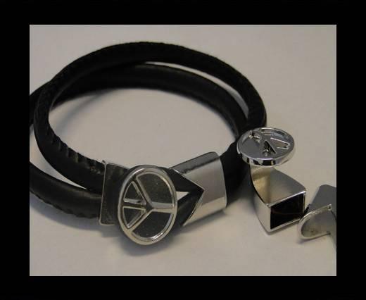 Zamak Half Bracelet Clasps MGL-59-10*5mm