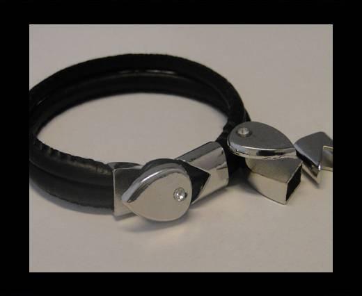 Zamak Half Bracelet Clasps MGL-65-10*5mm