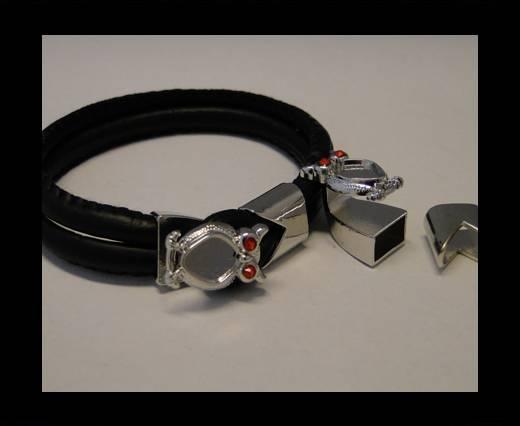 Zamak Half Bracelet Clasps MGL-67-10*5mm